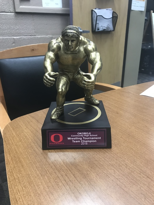 Okoboji Invitational Wrestling Trophy