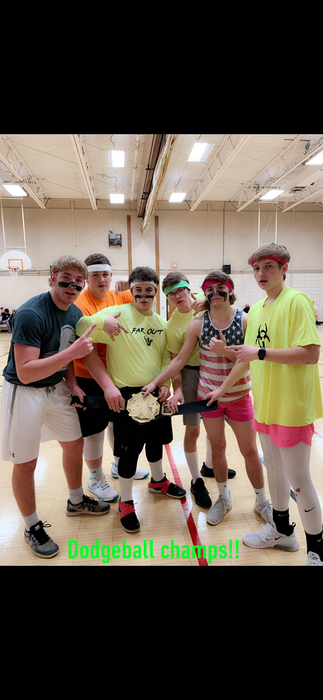 Winning dodgeball team!