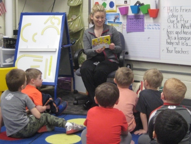 iSmile visits Graettinger Preschool Classes