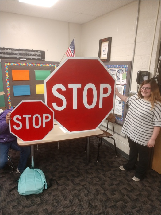 Scale Stop Sign